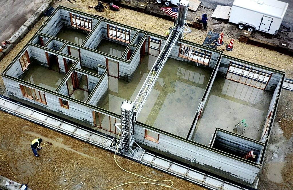 SQ4Dが1900平方フィートの住宅を3Dプリンターで建設