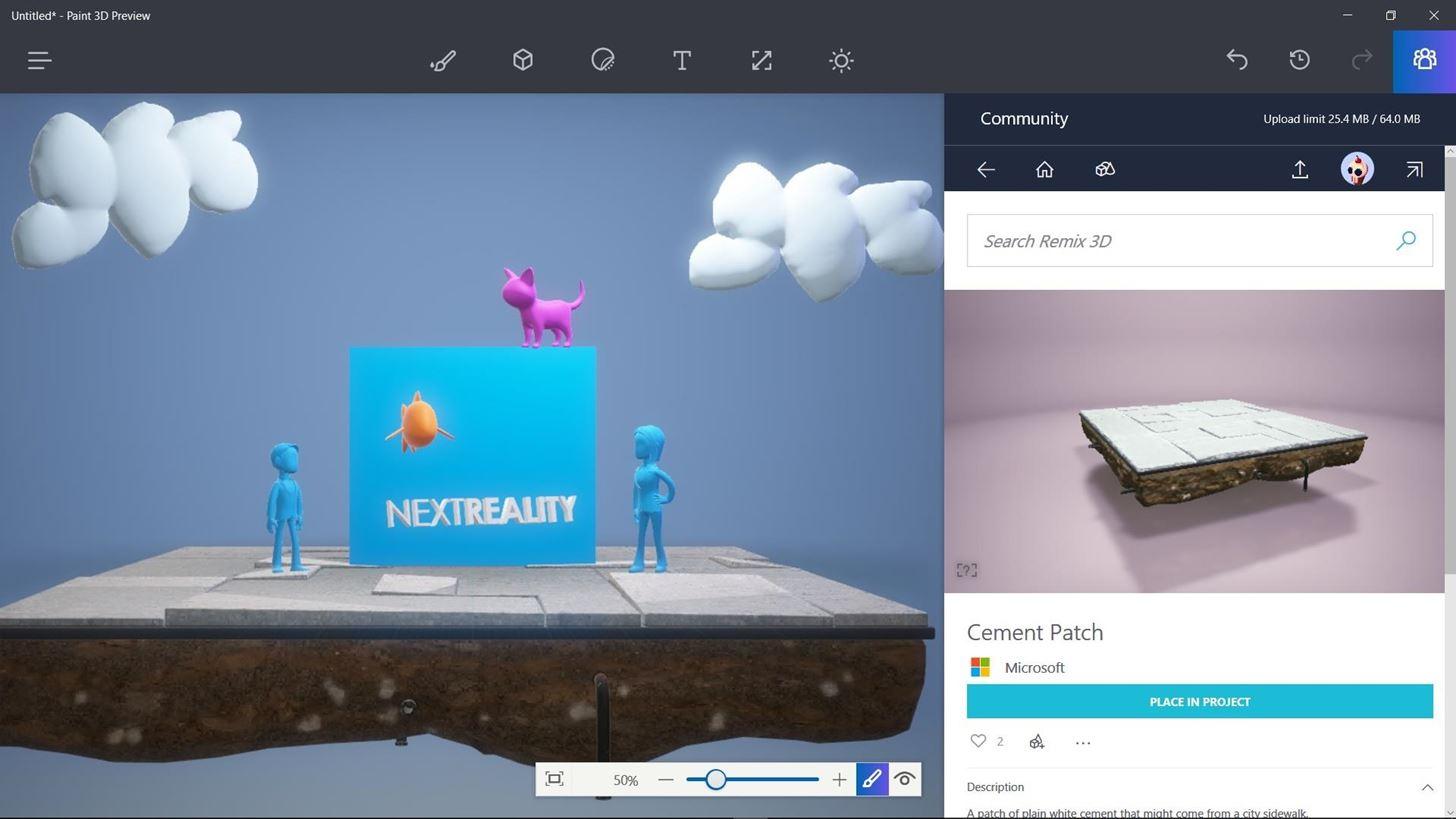マイクロソフト、ペイント3Dバージョンをインサイダー向けに公開