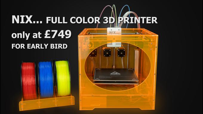 低価格フルカラー3Dプリンターのキックスターターキャンペーンが開始