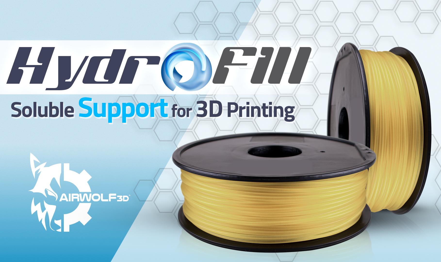 エアウルフ3D、新型水溶性サポートフィラメントをリリース
