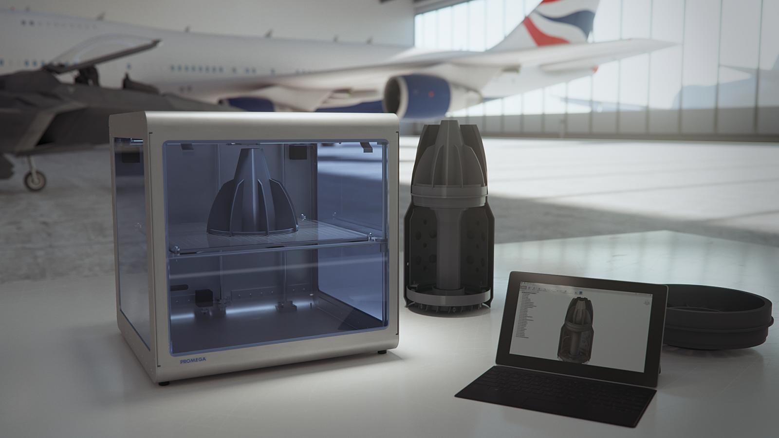 M3Dがを工業用3DプリンターPromegaをリリース