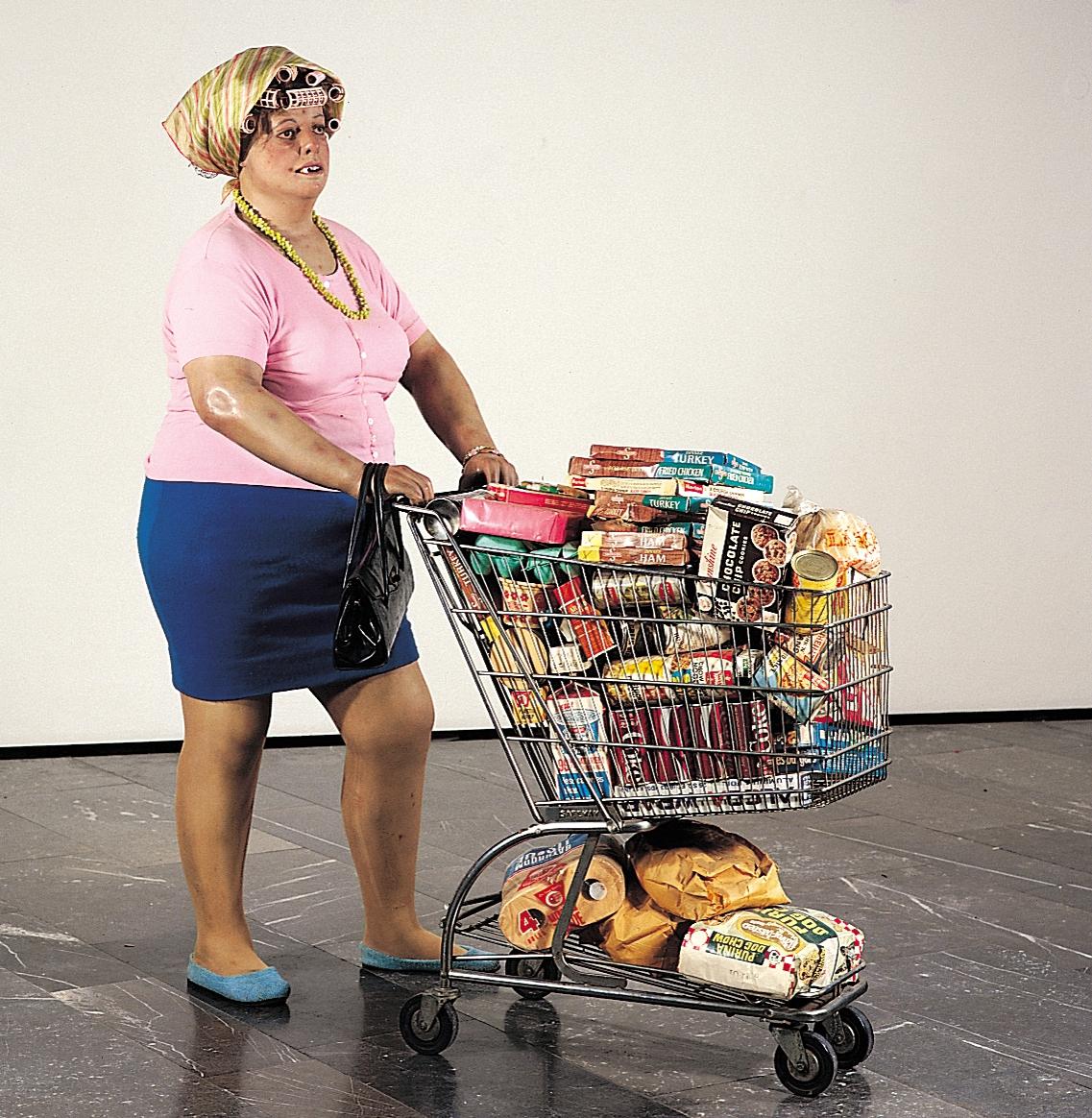 ドイツの国際芸術ルードウィッヒ・フォーラムが、デュアン・ハンソンの「スーパーマーケットレディ」の彫像を3Dスキャン