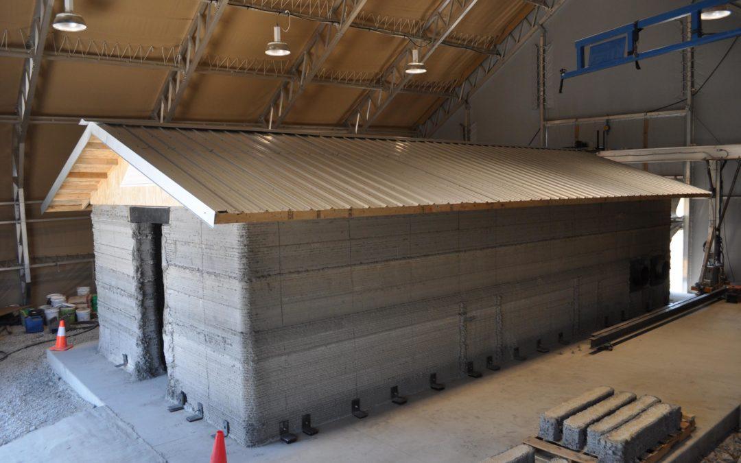 アメリカ軍が建設3Dプリンターでバラックを建設