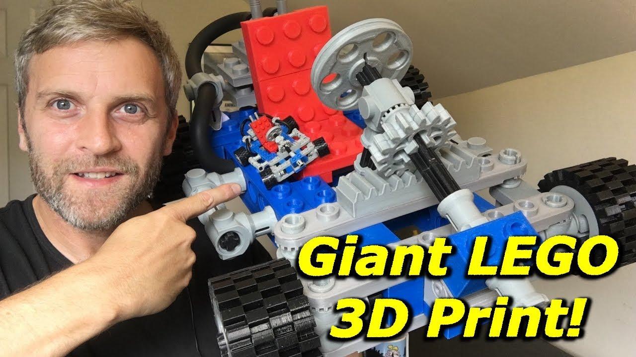 ユーチューバーが3Dプリンターで巨大レゴゴーカートを製造