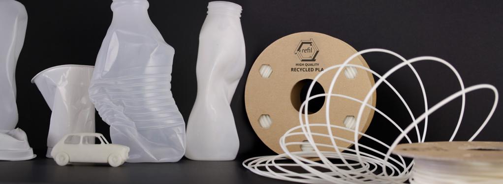オランダのベンチャー企業がヨーグルトの空き容器からフィラメントを製造
