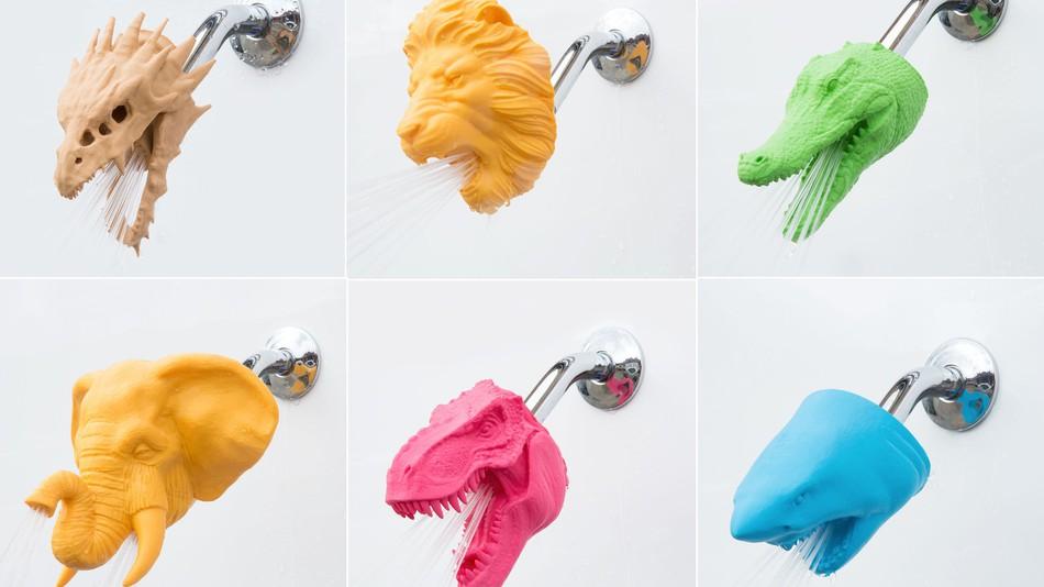 ニューヨークのスタートアップ企業が3Dプリンターで製造した動物シャワーヘッドを販売