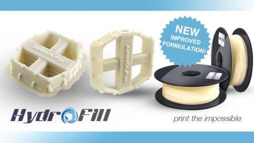 エアウルフ3D、改良型水溶性サポートフィラメントをリリース