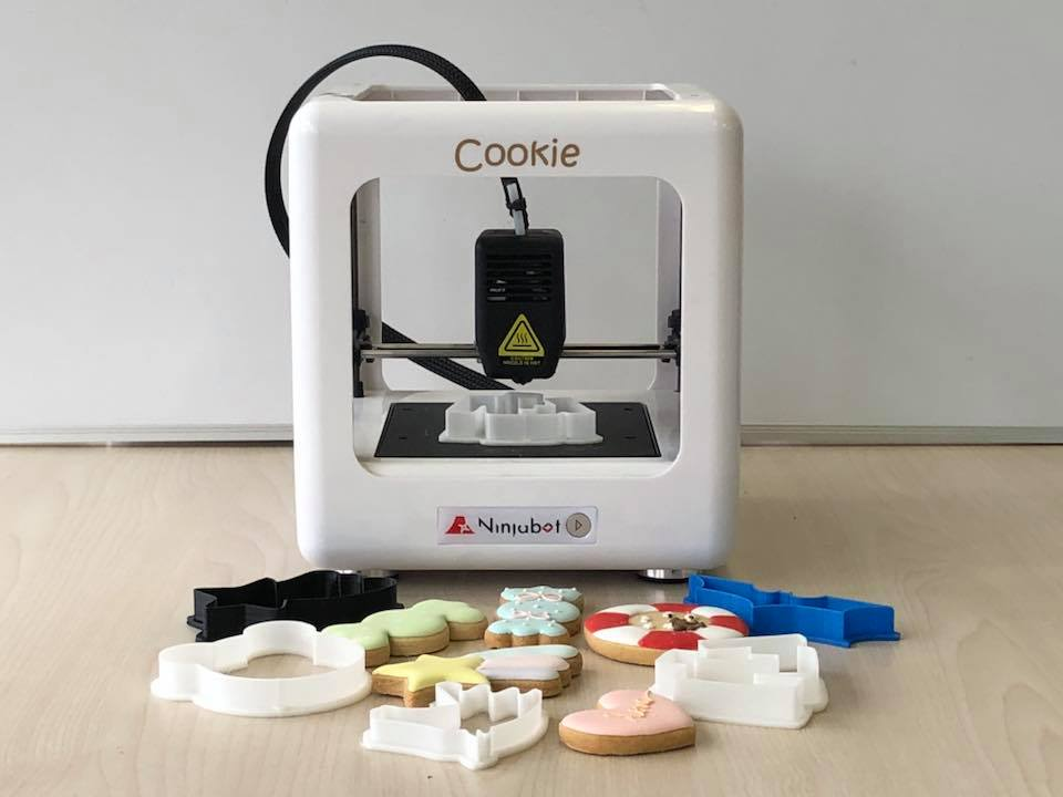 ニンジャボット、クッキー型製造3D プリンター「ニンジャボット・クッキー」の販売開始