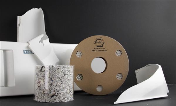 オランダの産廃処理企業が廃棄された冷蔵庫から3Dプリンター用フィラメントを製造
