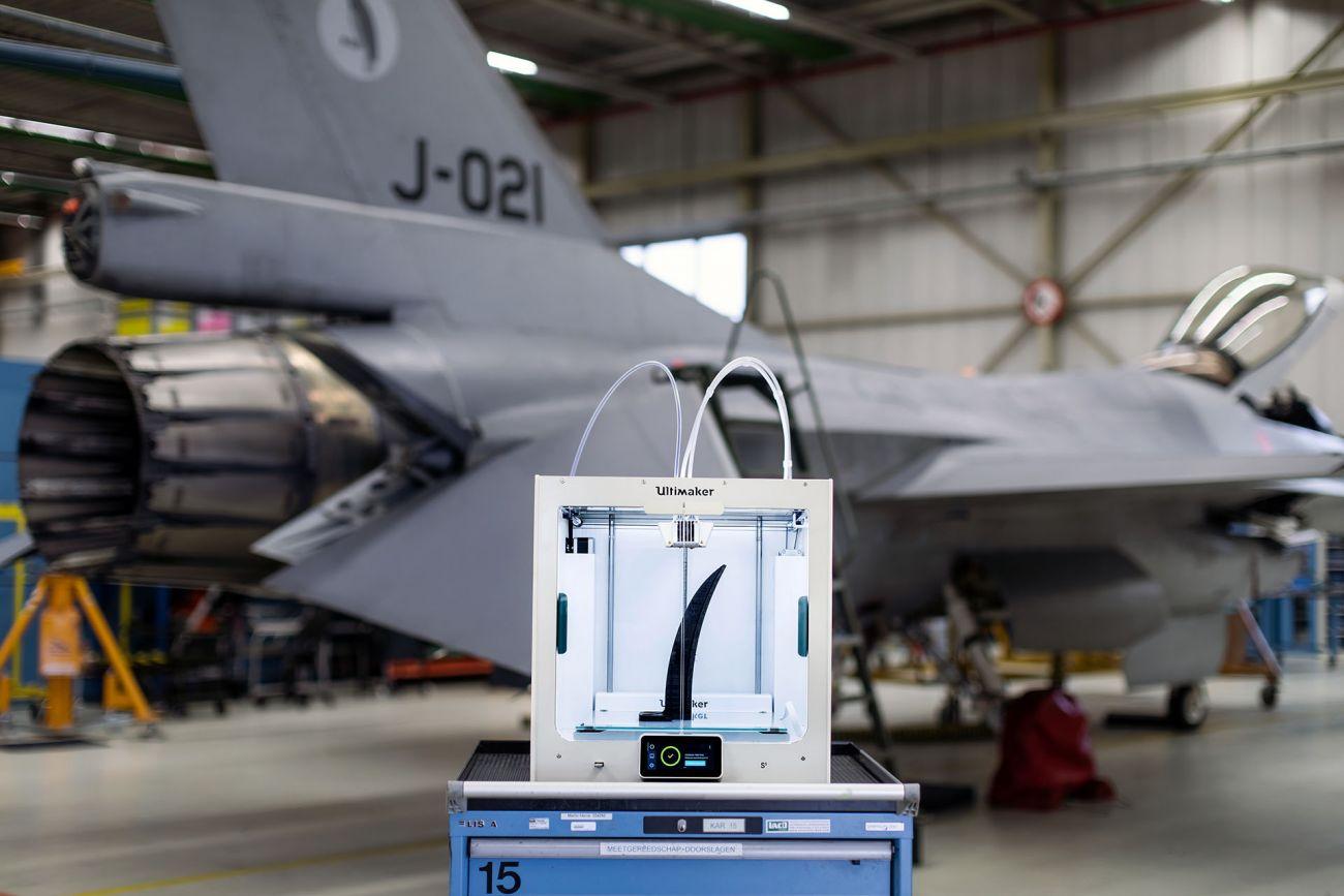 オランダ空軍がウルチメーカーの3Dプリンターを航空機メンテナンス用に導入