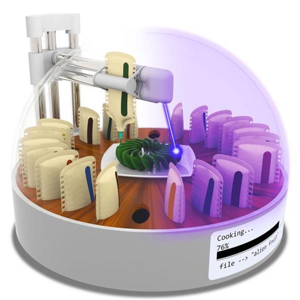 コロンビア大学の研究員が調理可能なフード3Dプリンターを開発