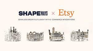 シェイプウェイズがEtsyとのインテグレーションサービスを開始