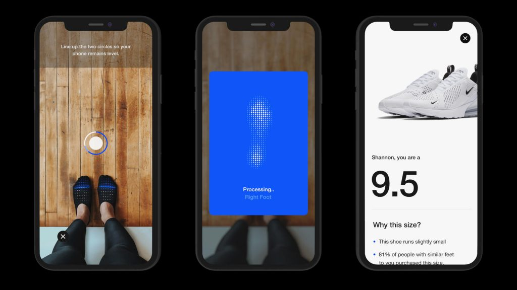 ナイキがシューフィットアプリ「ナイキ・フィット」をリリース