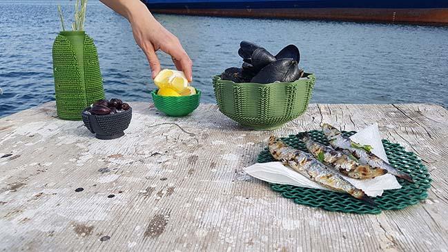 オランダのデザインスタジオが海洋投棄された漁網から3Dプリント・アクセサリーを製造