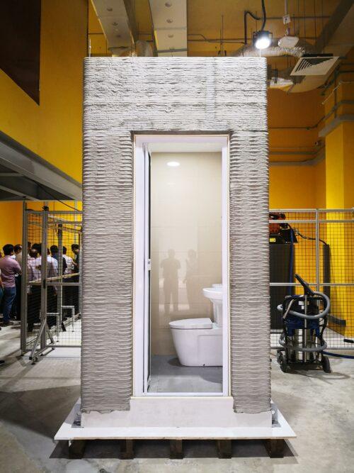 シンガポールの南洋理工大学が3Dプリンターでバスルームを12時間で製造
