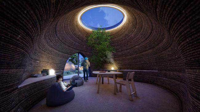 WASPが土を材料に3Dプリント住宅を建設