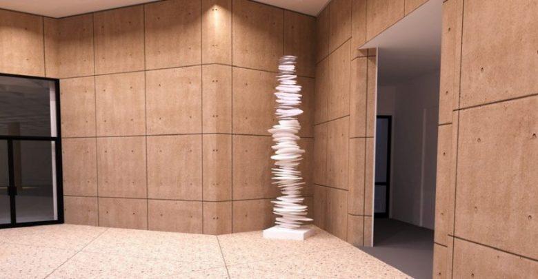 アメリカのアーチストが3Dプリンターで高さ3.6メートルのスカルプチュアを作成