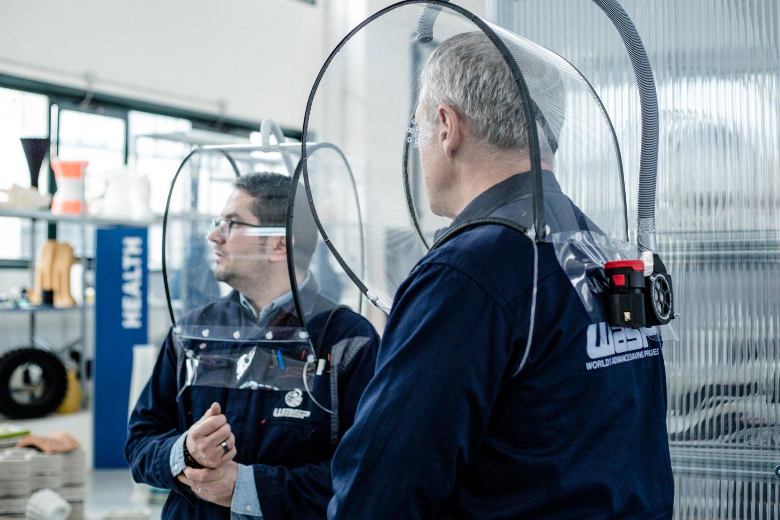 WASPが新型コロナウィルス対策用PPEマスクとヘルメットの3Dモデルをオープンソース化