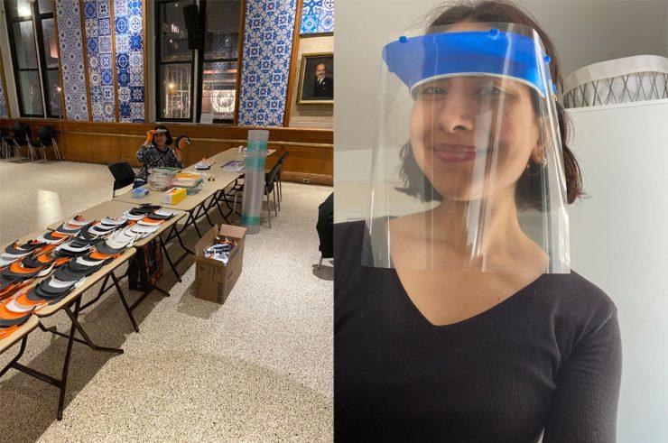 コロンビア大学図書館職員が3Dプリンターでフェイスシールドを製造