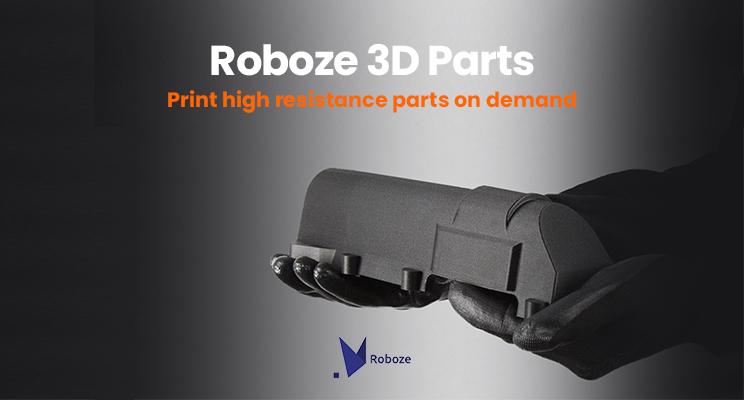 Robozeが3Dパーツ・マニュファクチャリングサービスを開始