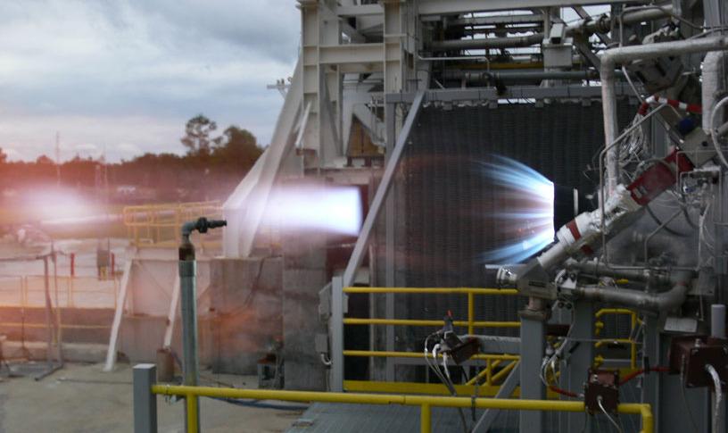 ブルーオリジンのBE-7ロケットエンジンが燃焼試験に成功