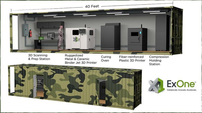 ExOneがシッピングコンテナー3Dプリンター工場を製造