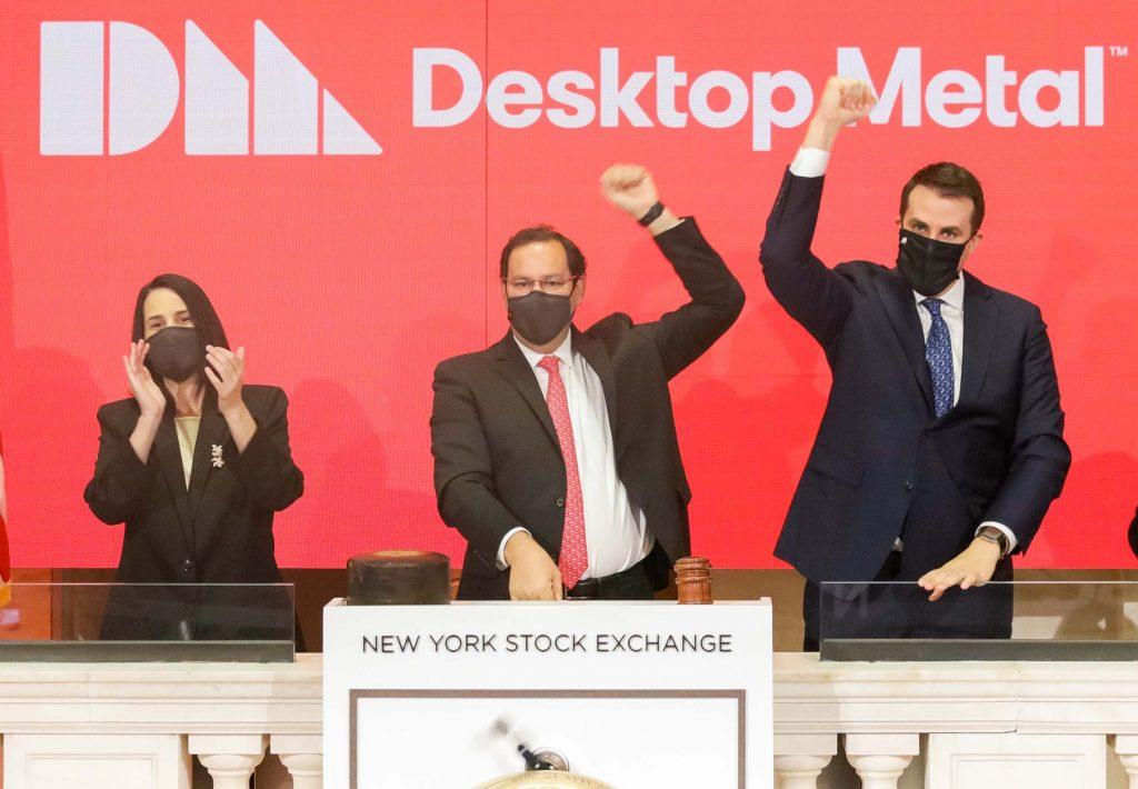 デスクトップメタルの株価が下落
