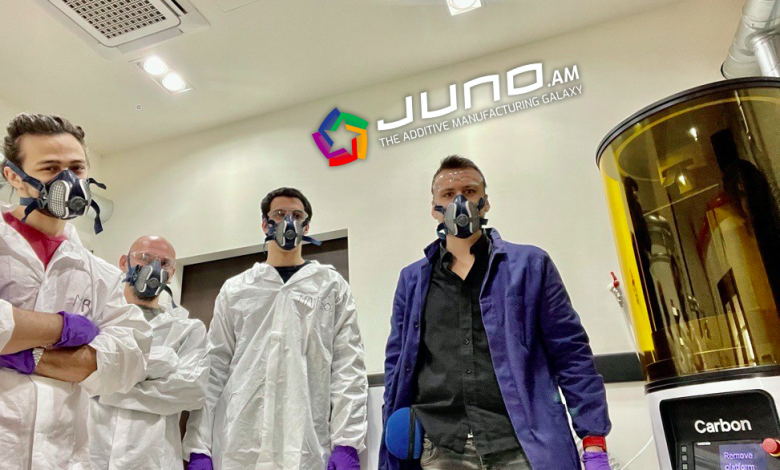 JUNOがカーボンのDLS3Dプリンティングシステムを導入