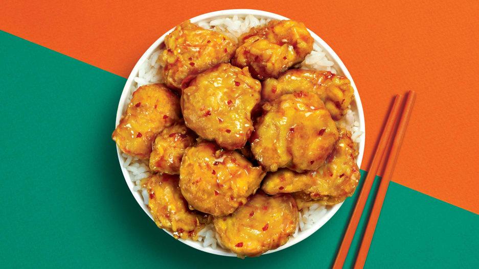 パンダエクスプレスがビヨンド・チキンを使ったオレンジチキンの販売を開始