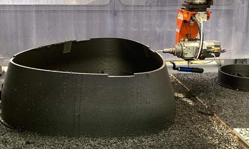 ディメンショナル・イノベーションズが大型3Dプリントベンチを製造