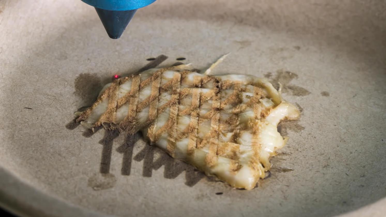 コロンビア大学の研究チームが鶏肉調理用3Dプリンターを開発