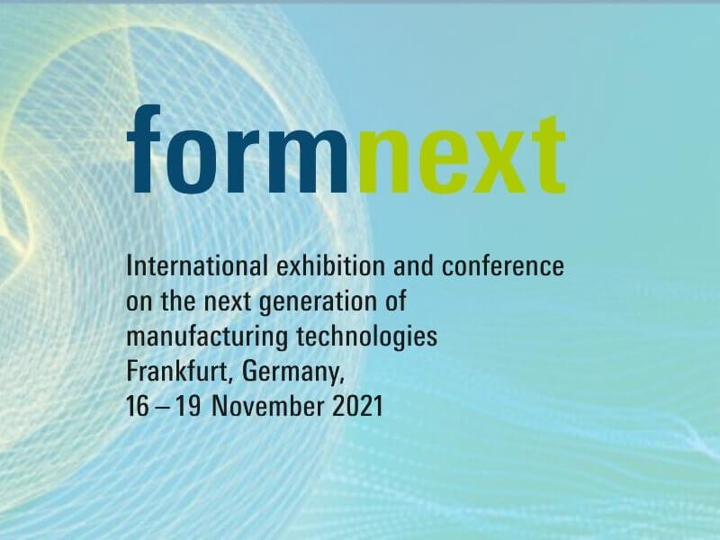 Formnext 2021が来月11月16日から19日の日程で通常通り開催